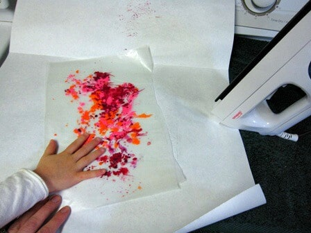 Ironing Crayon Shavings Between Wax Paper