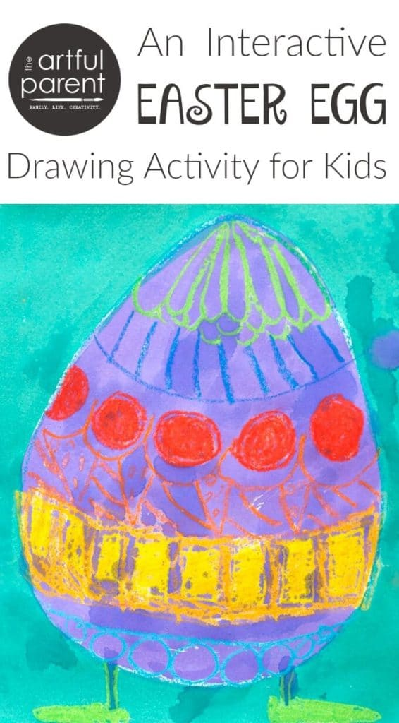 Back and Forth Easter Egg Drawings with Kids
