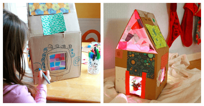 How to Make a Lighted Cardboard Dollhouse