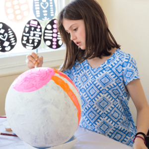 How to Make Giant Papier Mache Easter Eggs