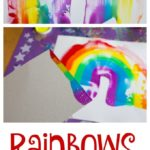 Rainbows and Scraper Art for Kids