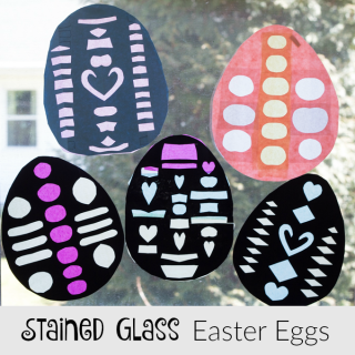 An Easter Craft For Kids Stained Glass Eggs