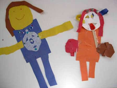 Large Kid-Made Paper Dolls