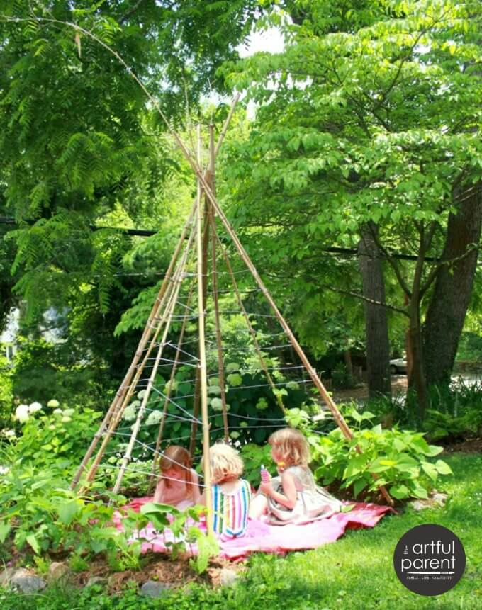 Amazing How To Make A Bean Pole Teepee