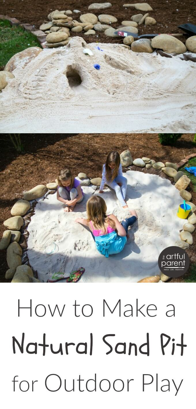 4585c6b2a1 How to make a natural childrens sand pit for outdoor play