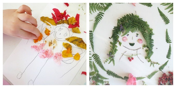 Nature Art for Kids - Flower Fairies and Foliage Faces