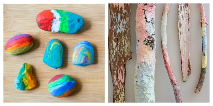 Nature Art for Kids - Rock Art and Nature Chalk Painting