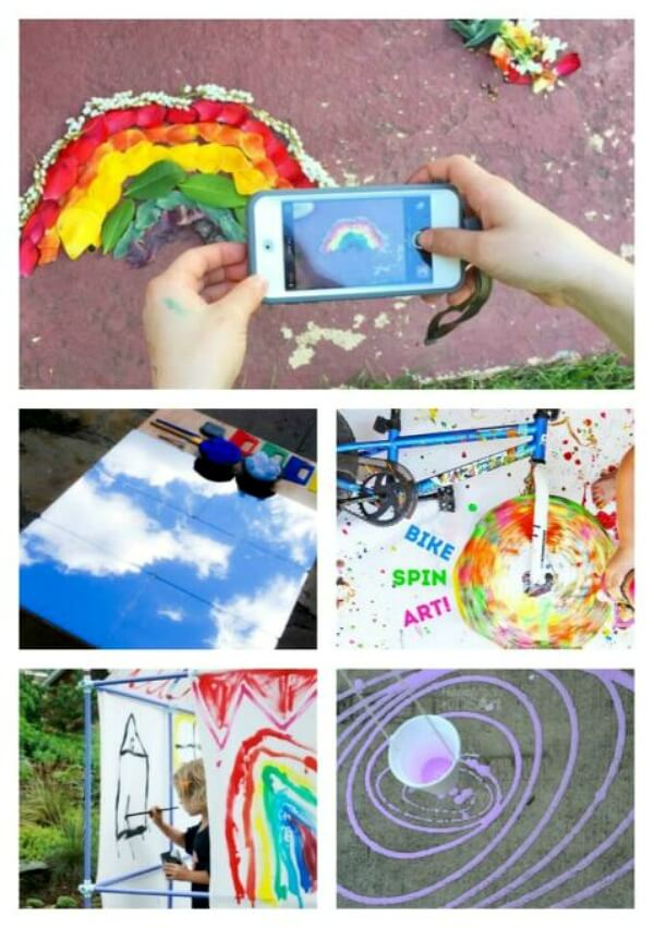21 Outdoor Art Ideas For Kids To Take The Creativity And Mess Outside