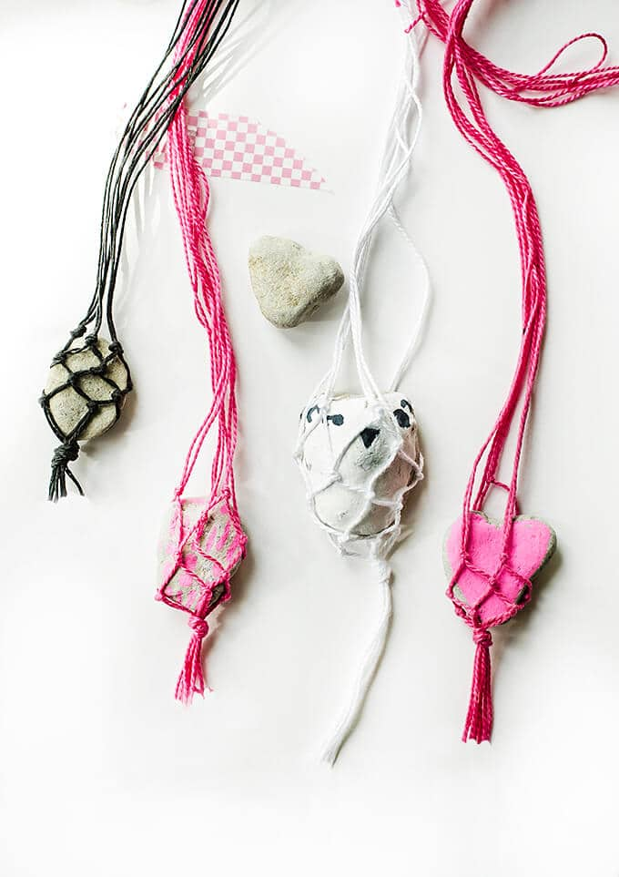 Beautiful Macrame Rock Necklaces