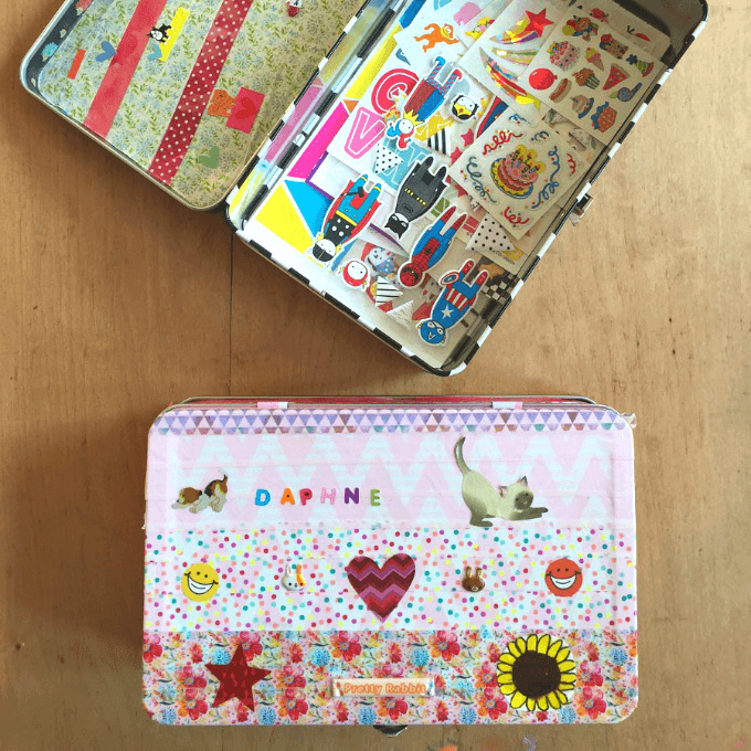 DIY Sticker Box for Kids Sticker Collections