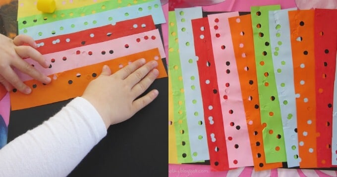 Hole Punch Art for Kids