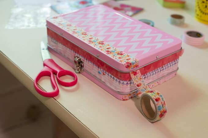 Sticker Box for Kids - Cover with Washi Tape