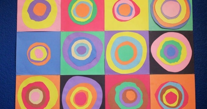 Kandinsky Circles Paper Collage