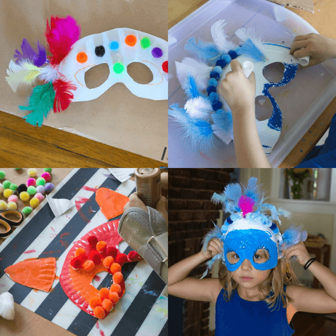 How to Make Paper Plate Masks for Kids Costumes & How to Make Paper Plate Masks and Cardboard Wings for Kids Costumes