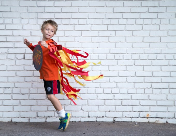 A DIY Kids Comet Costume