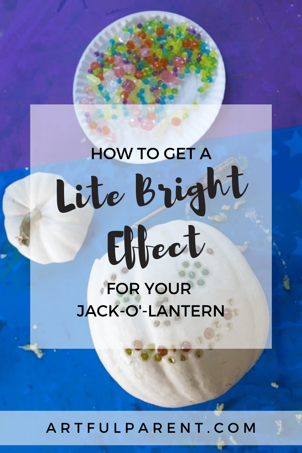 How to Get a Lite Brite Effect for Your Jack-O\'-Lantern