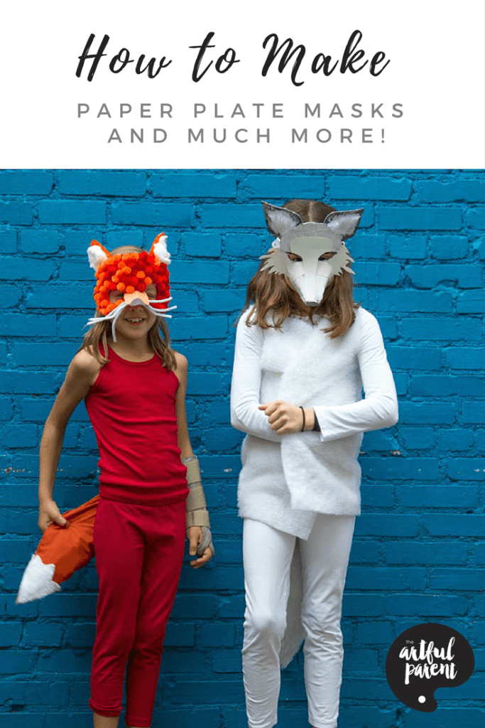 How to Make Paper Plate Masks, Cardboard Wings And More!