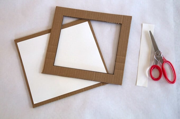 How to Make the DIY Cardboard Frame - Assembling the pieces