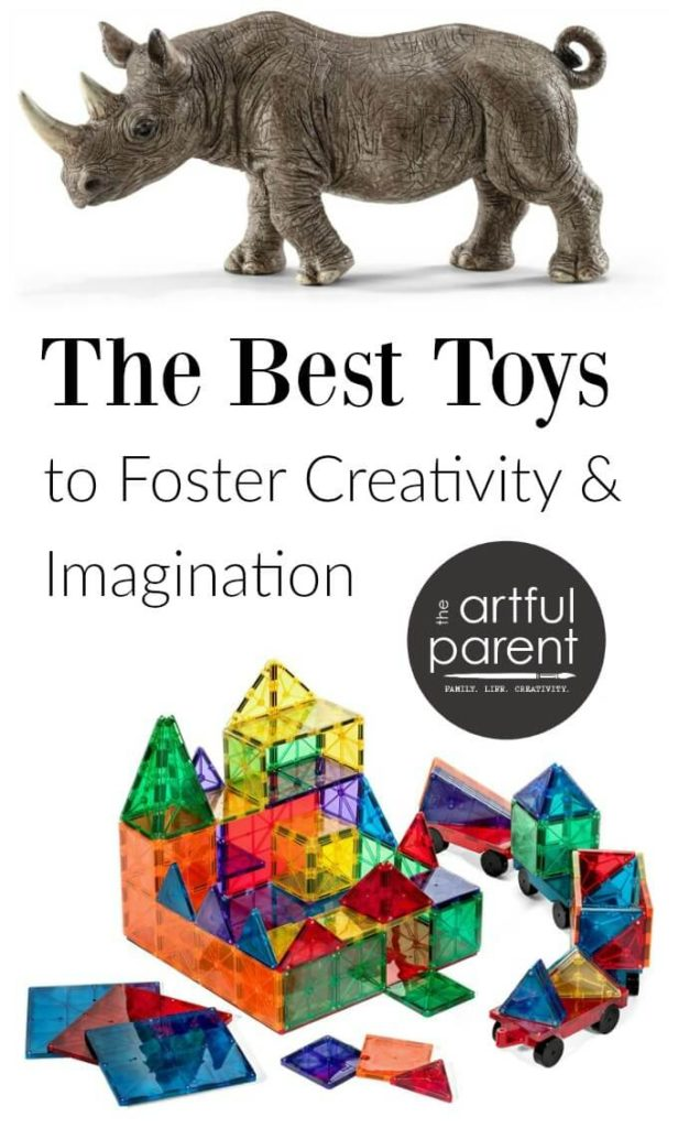A list of the best open-ended toys for kids, focusing on construction & pretend play. Toys like these foster play, creativity & imagination. #creativehome #play #playroom #parenthood #parenting #toys