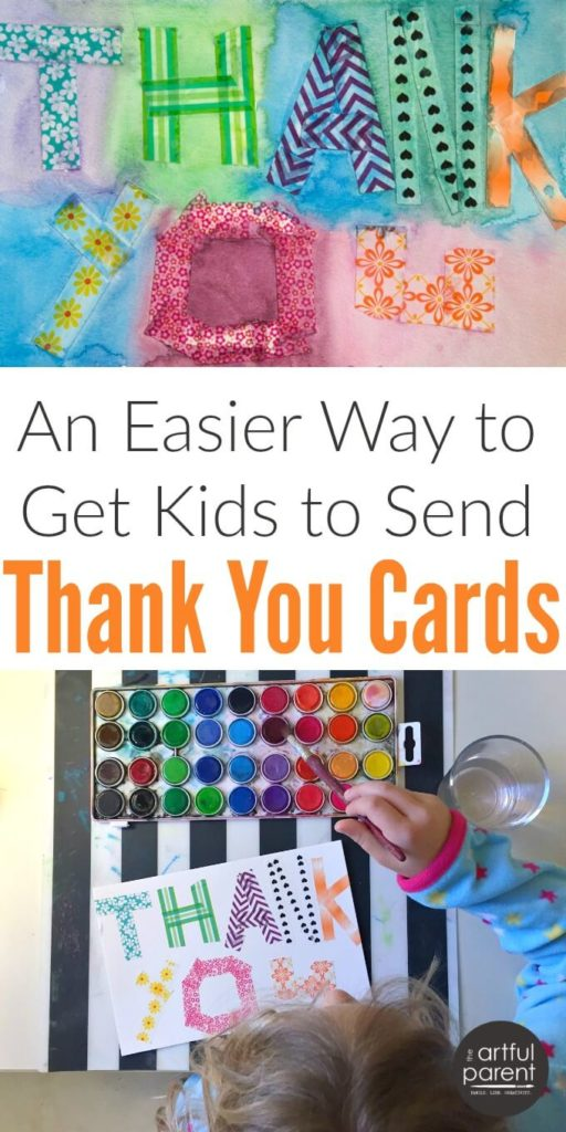 Thank You Cards For Kids Make One And Copy It