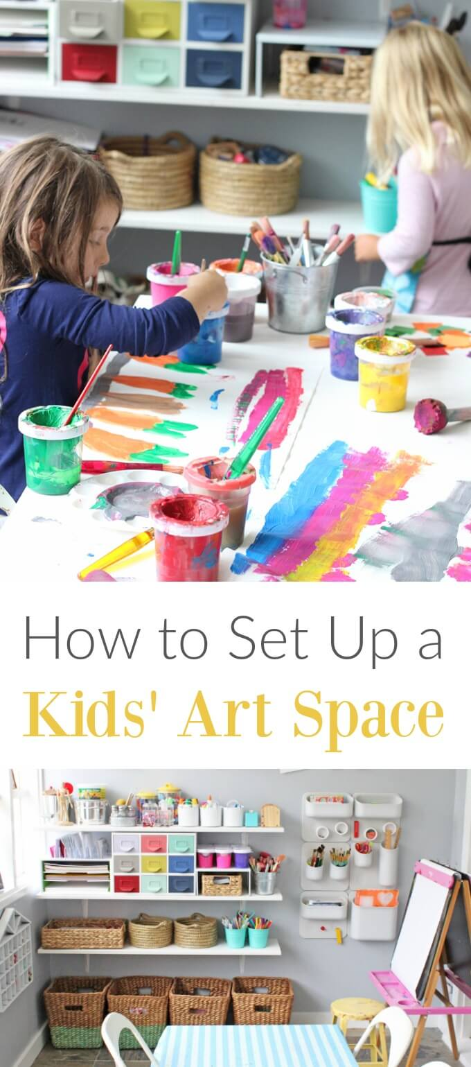 How To Set Up A Kids Art Space That Builds Creative Confidence & Independence
