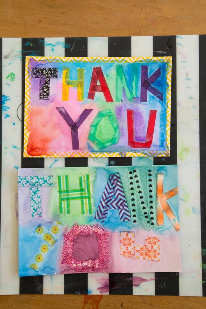 Thank You Cards for Kids - Make One and Copy It!