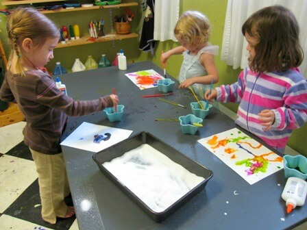 Salt Watercolors Art Activity for Kids - Painting