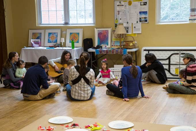 Music Circle at Toddler Art Class