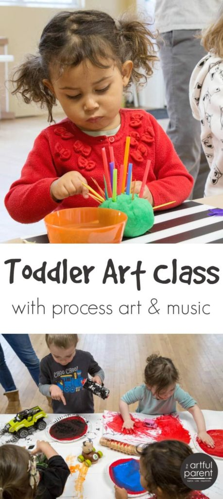 Toddler Art Class with Process Art & Music