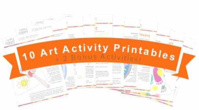 Action Art Activity Pack Printables