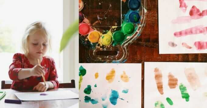 Creative Activities for Family Connection - Kiddo Art on Elise Gets Crafty