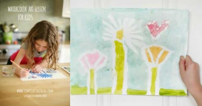 Creative Activities for Family Connection - Watercolor Art Lesson on Simple As That