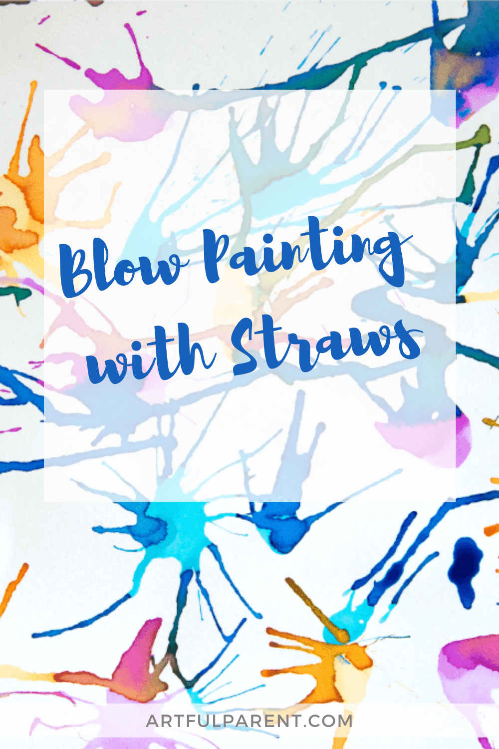 Blow Painting with Straws - pinterest
