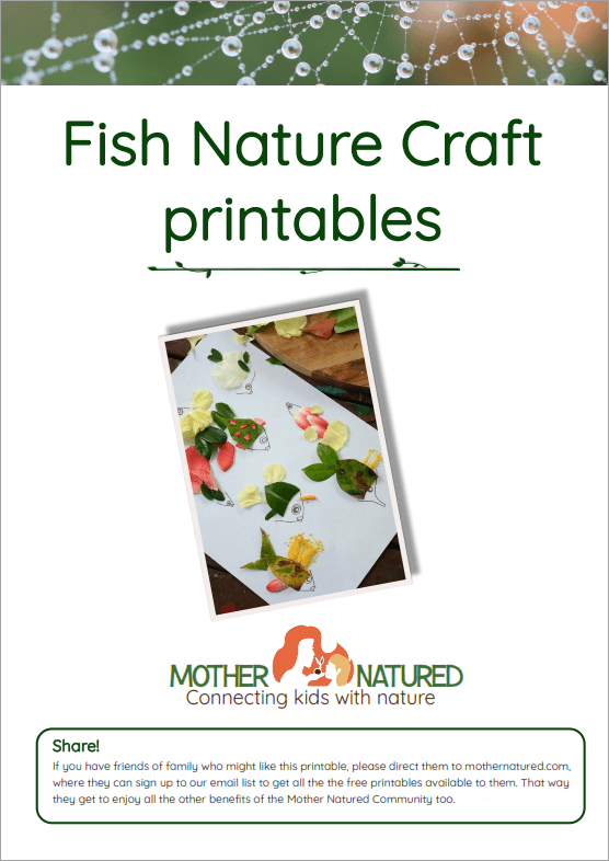 Fish Nature Craft Printables Cover