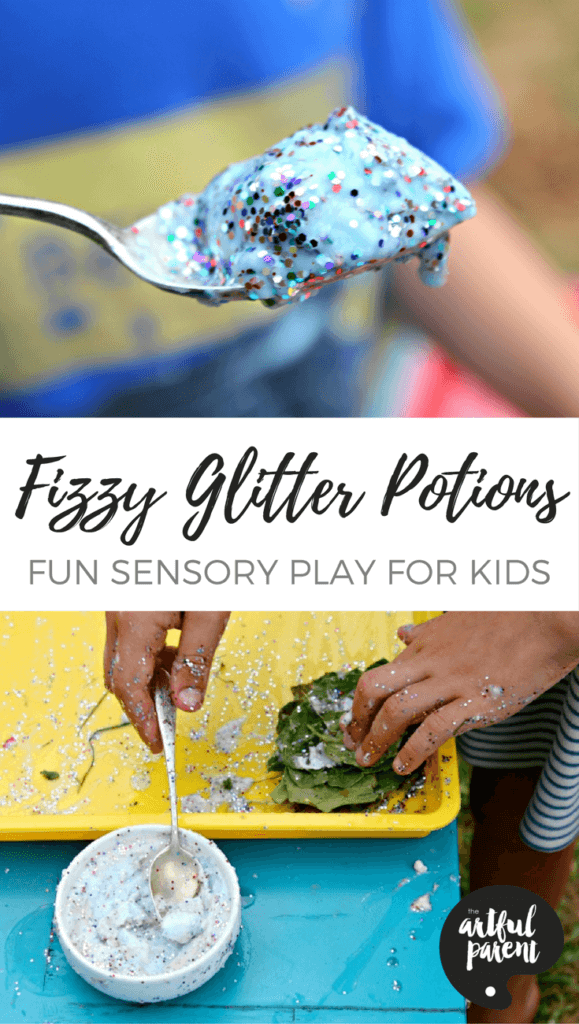 Fizzy Glitter Potions - A Fun Sensory Idea for Kids