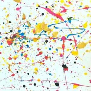 Splatter Painting with Kids - Finished Artwork