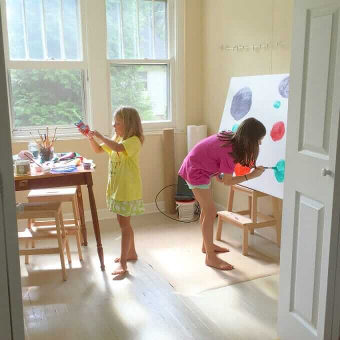 Art Spaces for Kids - 8 Simple Ways to Set Up for Art in Your Home