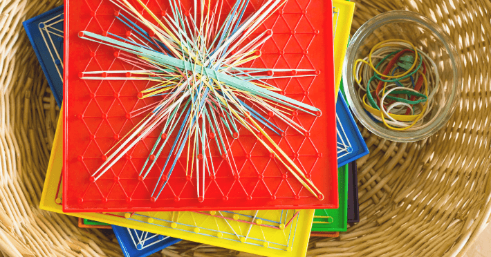 Geoboard Art and Design for Kids