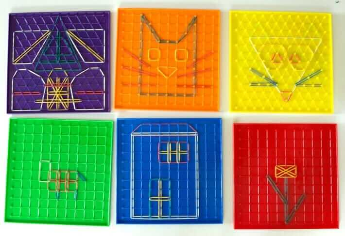Geoboard Activities - Creating Pictures with the Rubber Bands
