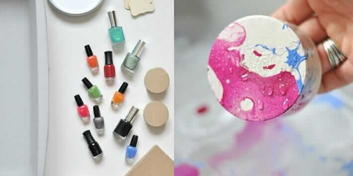 How to Marble Paper with Nail Polish