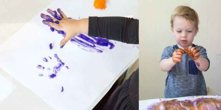 Fingerpainting with Homemade Edible Finger Paints