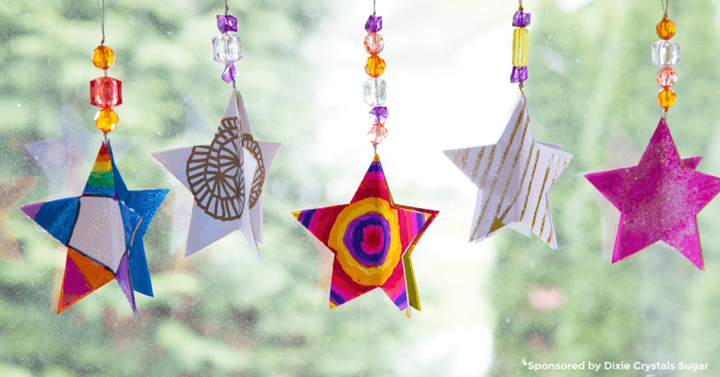 3d paper star ornaments
