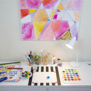 Stocking a Children's Art Desk for Creativity