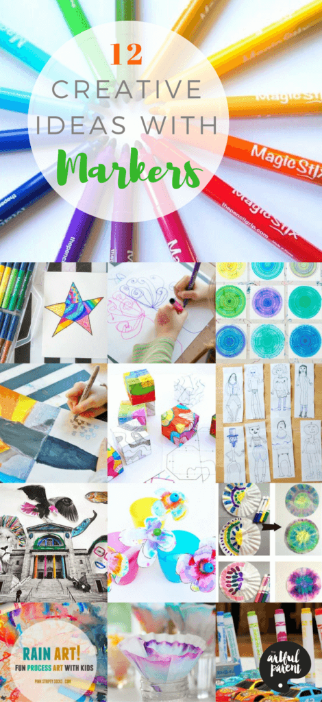Marker art uses a childhood favorite art material but can be more creative and unique than you might think. Here are 12 fun and easy marker art activities to do with kids.