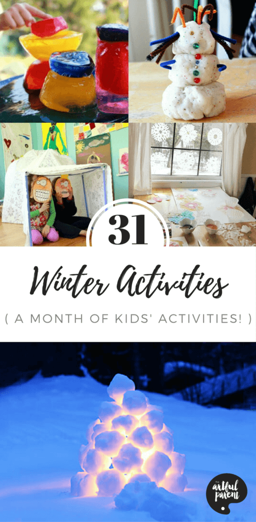 31 Days of Winter Activities for Kids (With Printable List!)