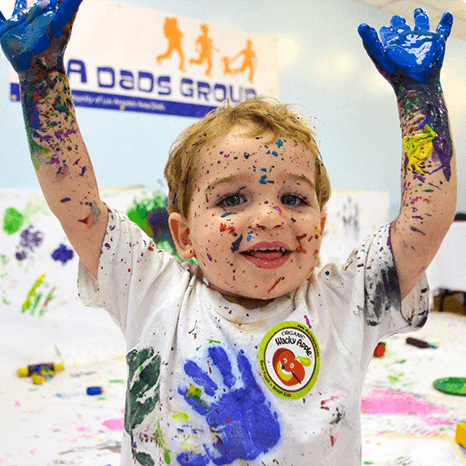 Art Crawls -boy covered in paint