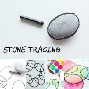 Stone Tracing Art for Kids