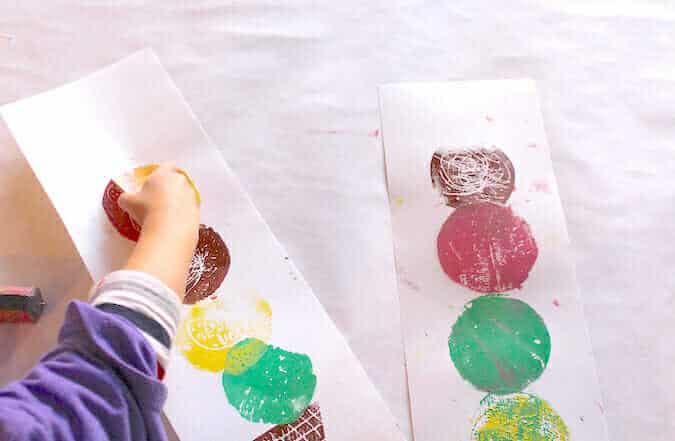 Easy Printmaking with children – Ice Cream Art