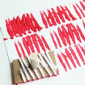 Make DIY Stamps with Cardboard (+ A Spring Art Project)