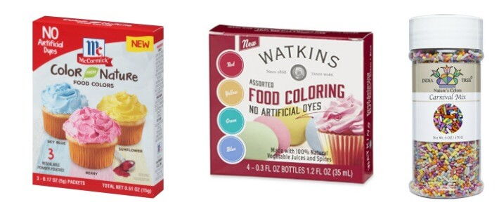 Nature Food Coloring Alternatives
